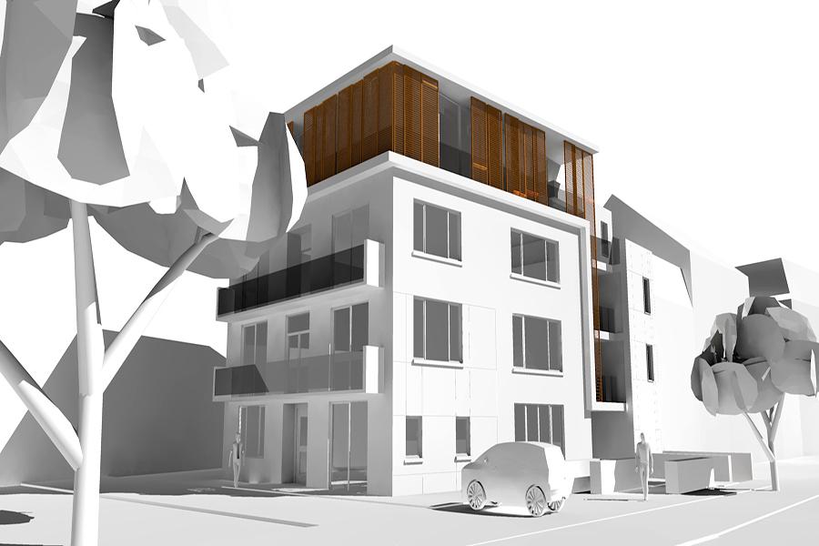 Immeuble demey claus architecture for Immeuble bureau architecture